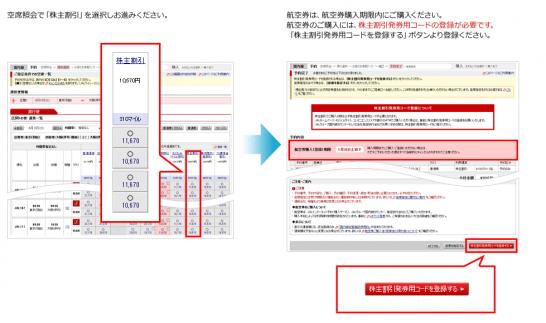 日本航空 株主優待 使い方