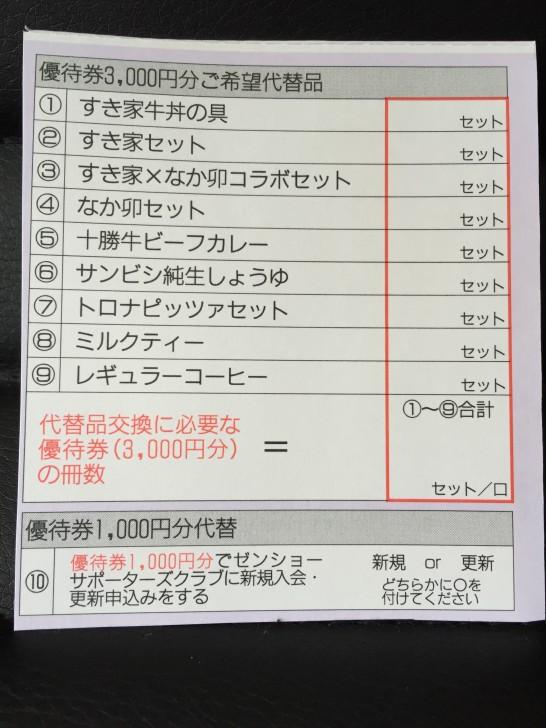 株主優待 ゼンショー 3