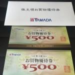 ヤマダ電機(9831)の株主優待(2015年3月版)が到着!! 優待拡充で利回りが凄い!!