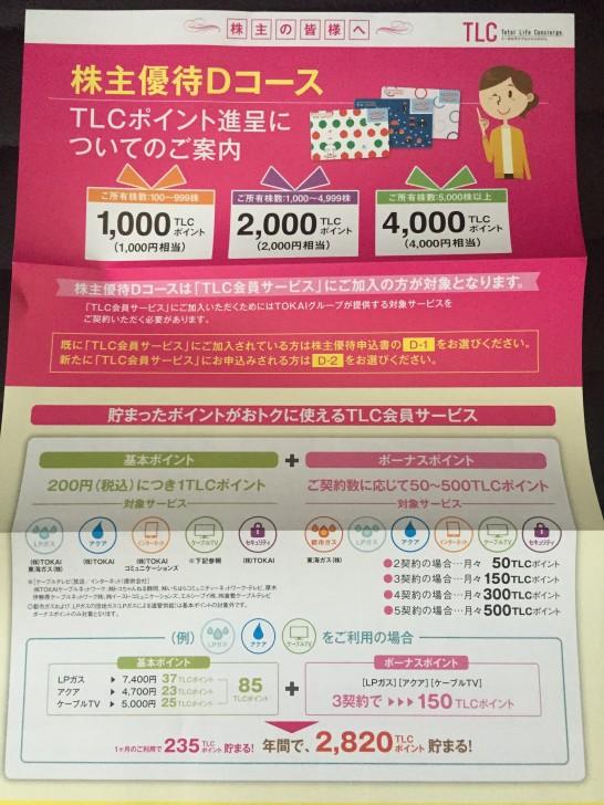 TOKAIホールディングス 株主優待1