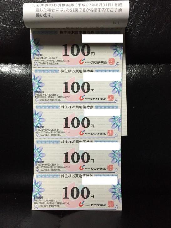 カワチ薬品(2664)から株主優待が到着!! 5,000円相当の割引券は評価が別れそう…