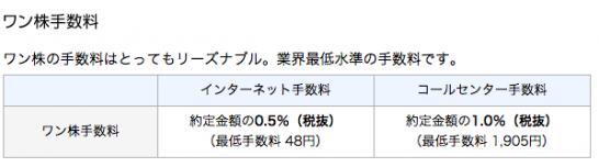 マネックス証券 ワン株