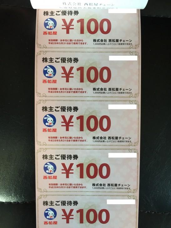 西松屋 株主優待 2015 2