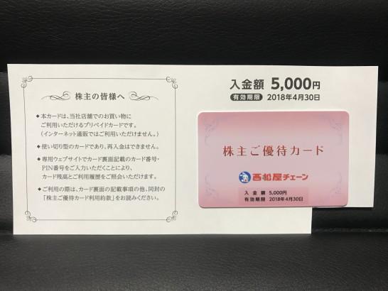 西松屋 株主優待 2017年 9月 1