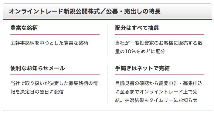 SMBC日興証券 IPOルール