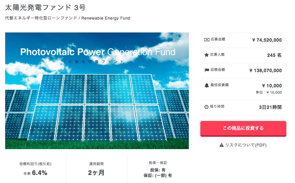 クラウドバンク 太陽光ファンド